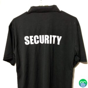 Black Security Polo Shirt