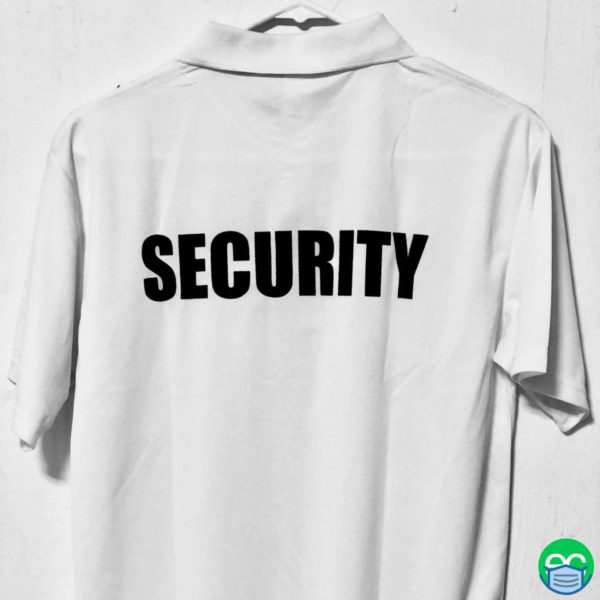 White Security Polo Shirt