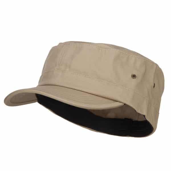 Khaki Flat Top Cap