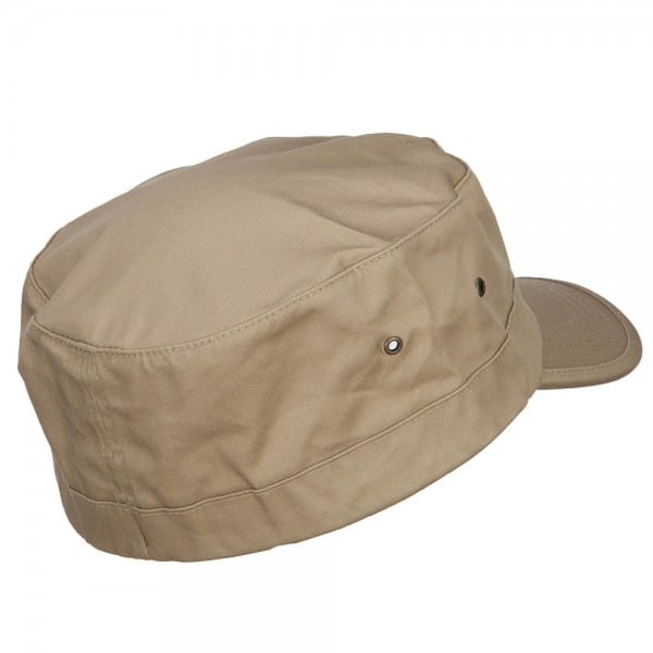 Back of Khaki Flat Top Cap