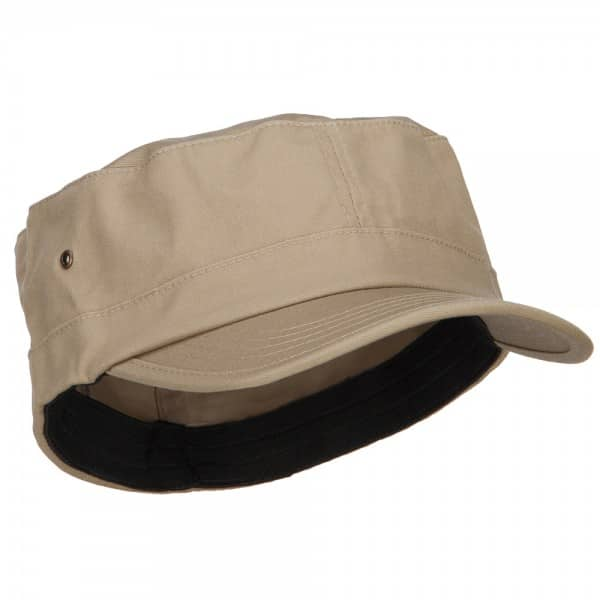 Front of Khaki Army Cap