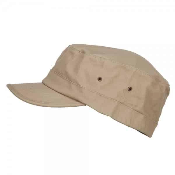 Side of Khaki Army Cap