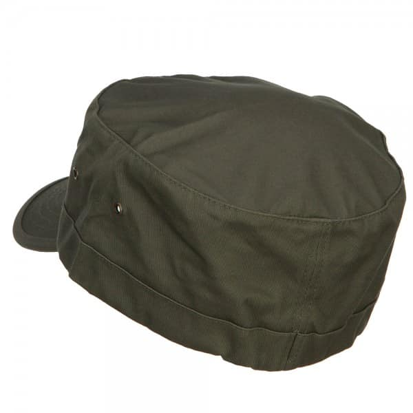 Olive Military Cap - Back