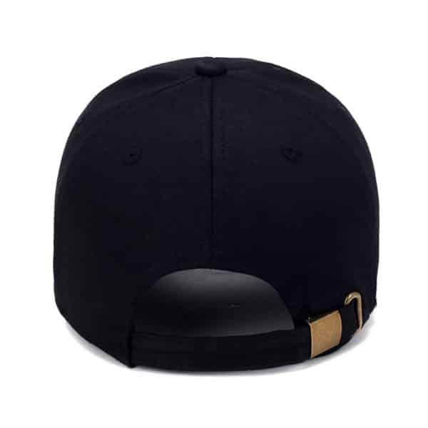 Black Metal Clasp Cap