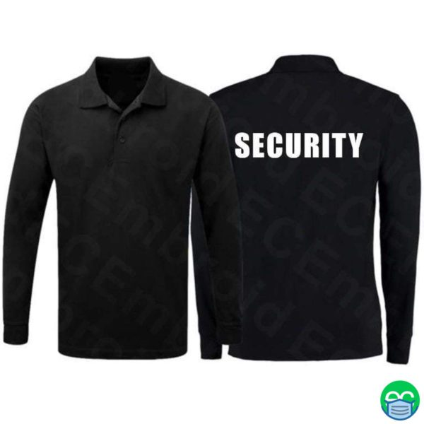 Long Sleeve Security Polo Shirt