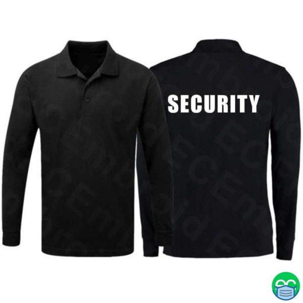 Long Sleeve Security Polo Shirt
