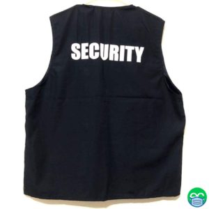 Security Vest / Security Cargo Vest / Vest with Security Wording - ECEmbroid